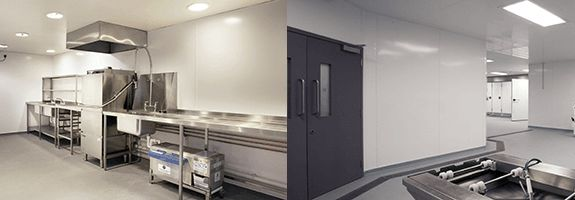 Gloss Orange Hygienic Cladding