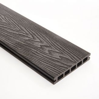 148mm Black Double Faced WPC Decking 3m