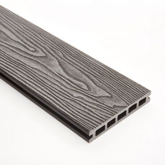 148mm Grey Double Faced WPC Decking 3m