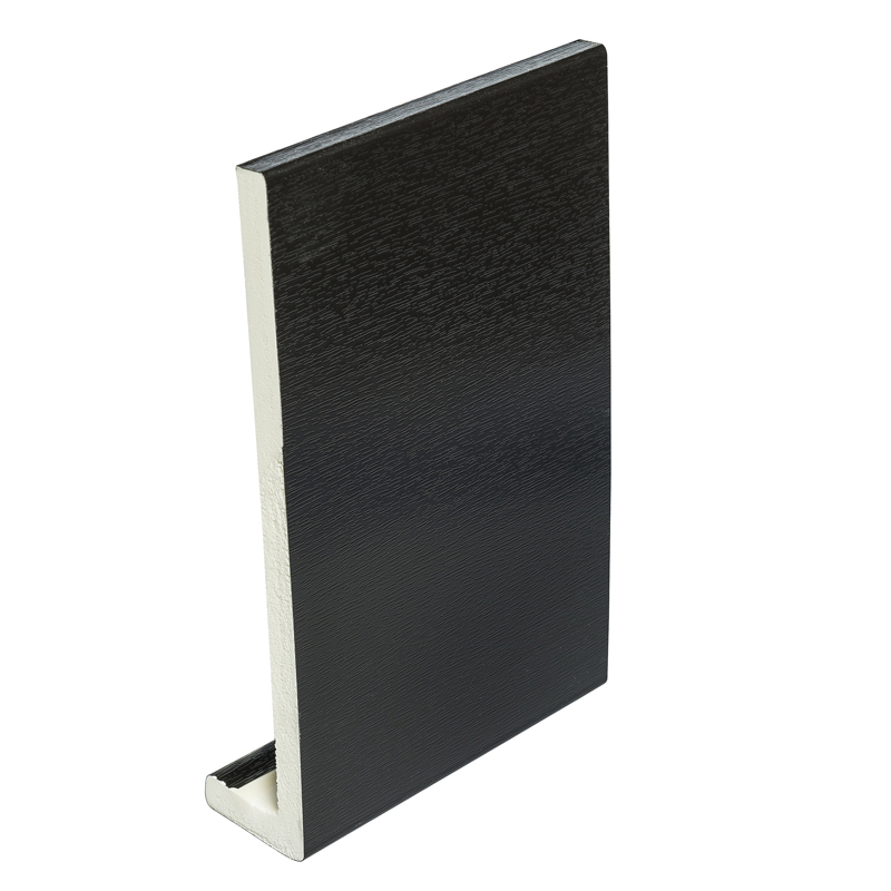 405mm x 9mm Black Ash Fascia Board 5m Double Ended image