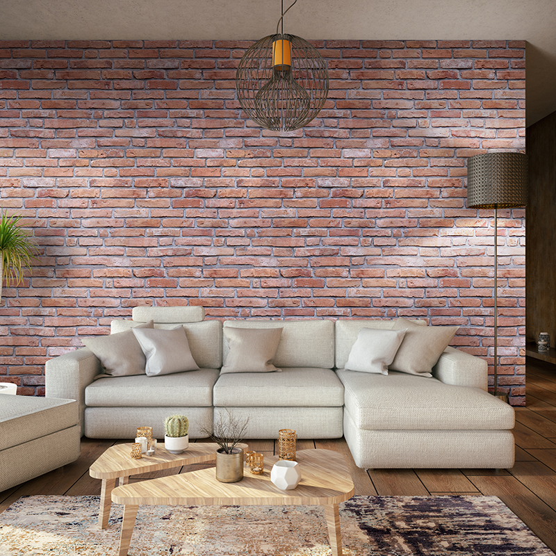 Traditional Red Brick 7.5mm Bathroom Panels 250mm x 2.6m Pack of 4