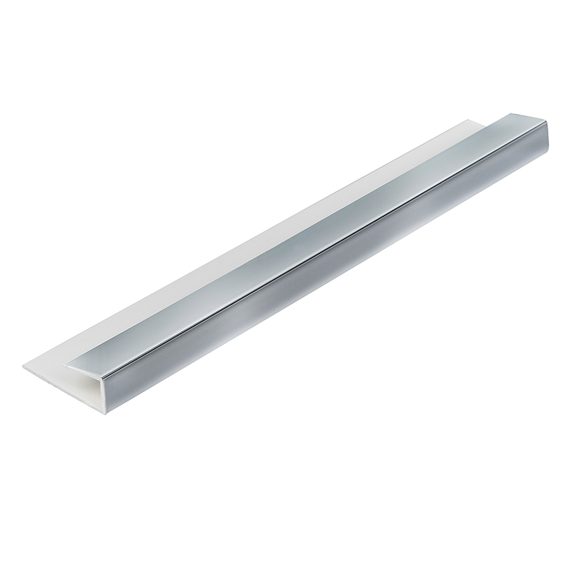 Chrome 5mm Wall Panel End Cap 2.6m  image