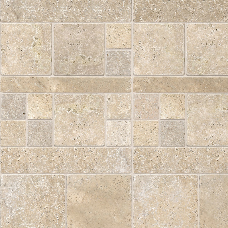 Travertine Classic 5mm Bathroom Panels 350mm x 2.6m Pack of 6  image