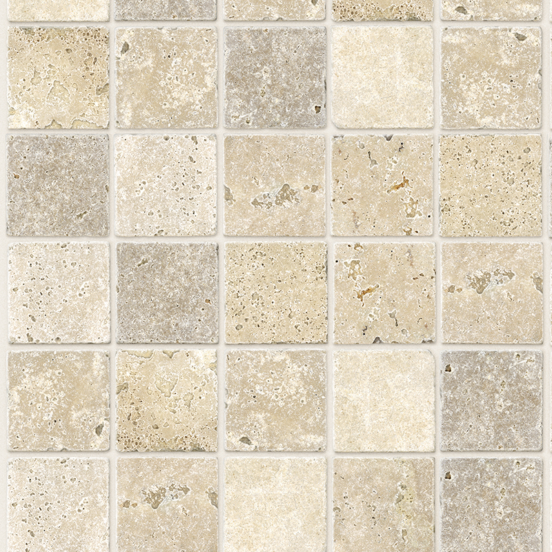 Travertine Mosaic 5mm Bathroom Panels 350mm x 2.6m Pack of 6  image