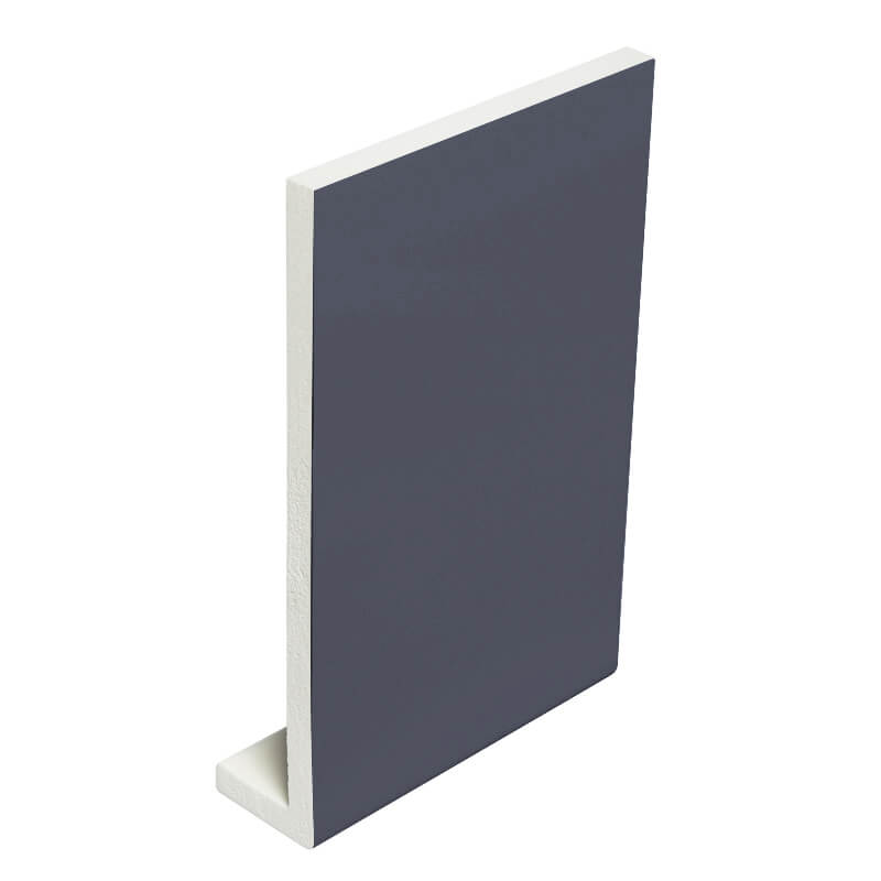 405mm x 9mm Plain Anthracite Grey Fascia Board Double Ended 5m image