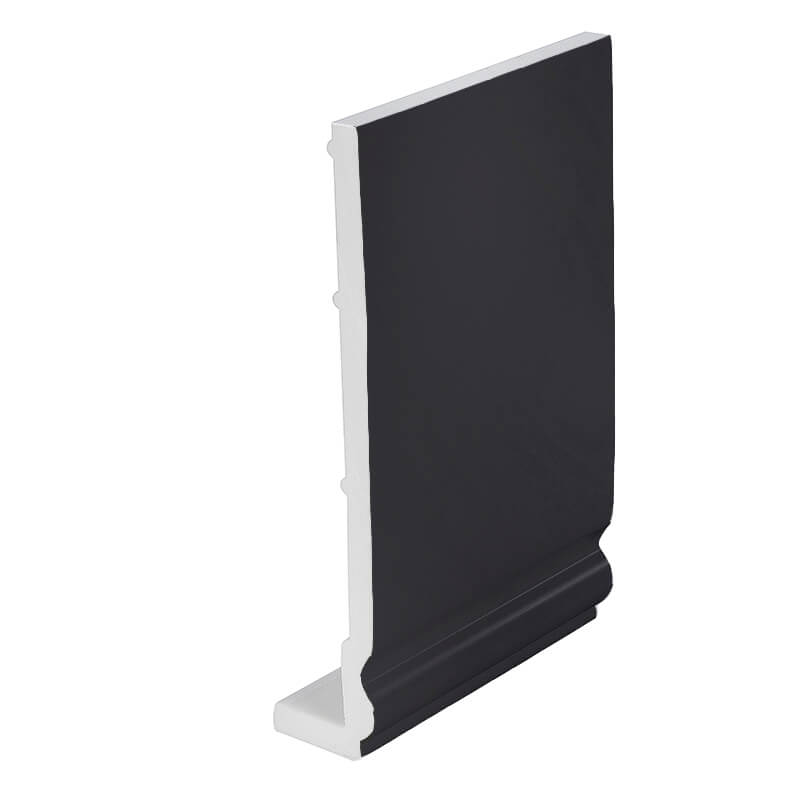 405mm x 9mm Ogee Fascia Board Plain Black Double Ended 5m image