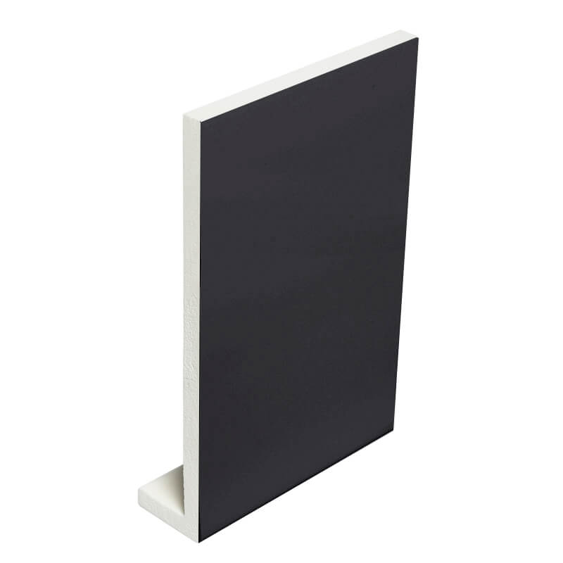 405mm x 9mm Fascia Board Plain Black Double Ended 5m image