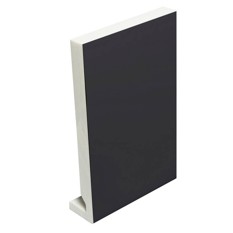 405mm x 16mm Plain Black Fascia Board Double Ended 5m image