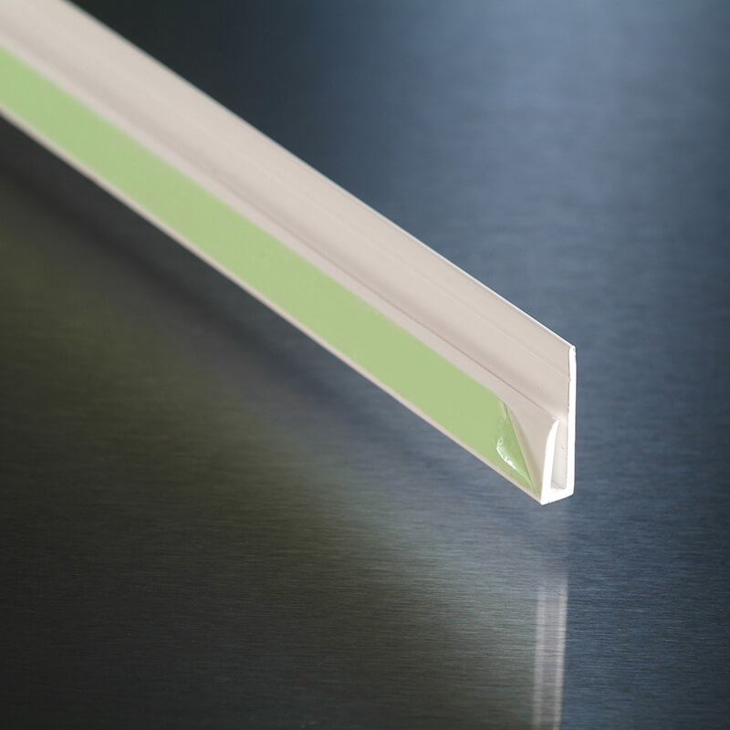 White Wall Cladding Capping Strip 2.44m  image