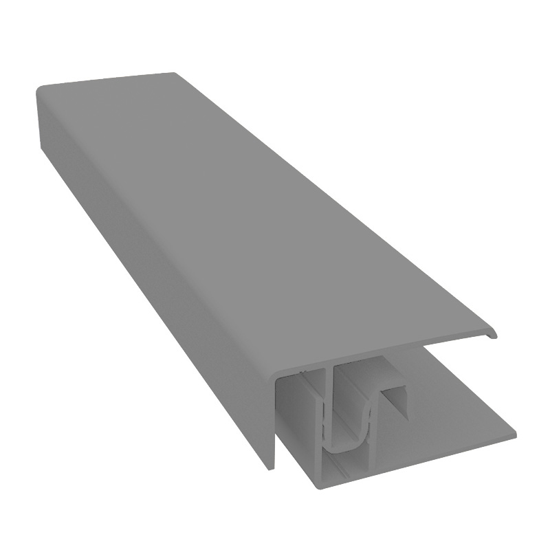 Durasid Quartz Grey Two Part Aluminium Edge Trim 3m image