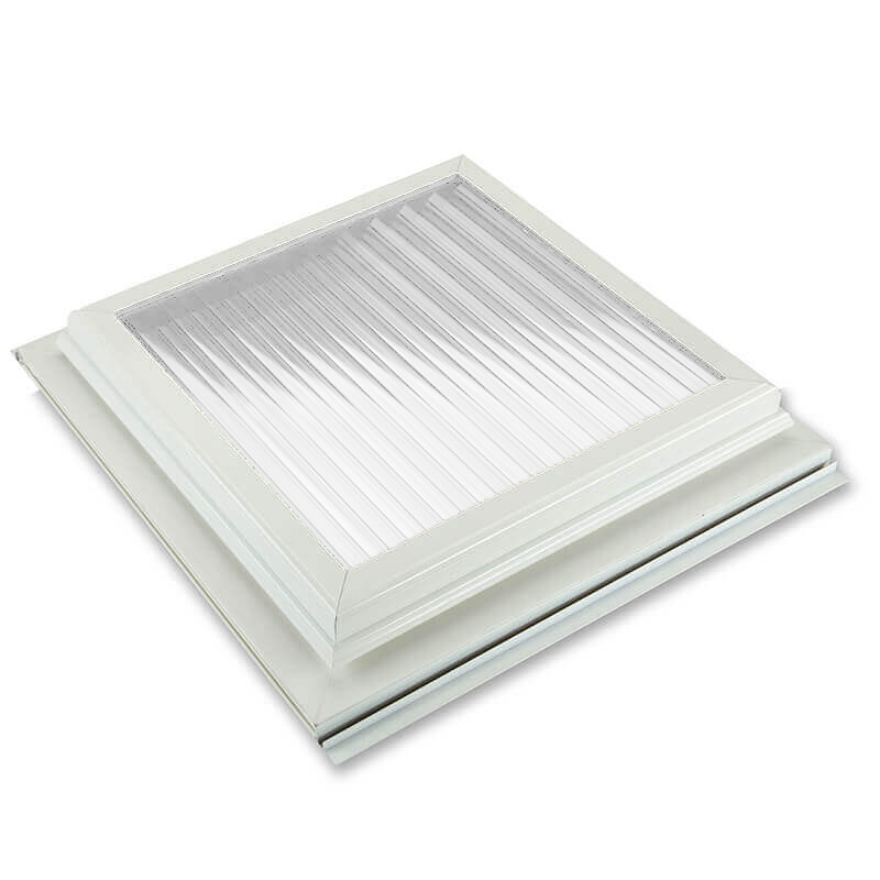 600mm x 600mm Glazed 25mm Clear Multiwall White Roof Vent  image
