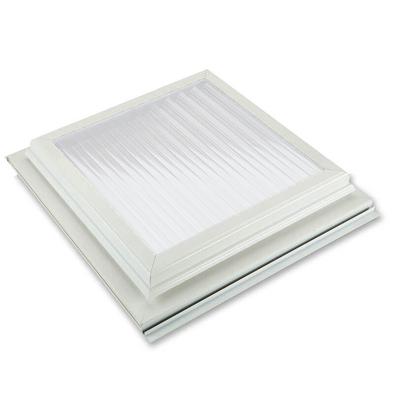 1000mm x 1000mm Glazed 25mm Opal Multiwall White Roof Vent  image