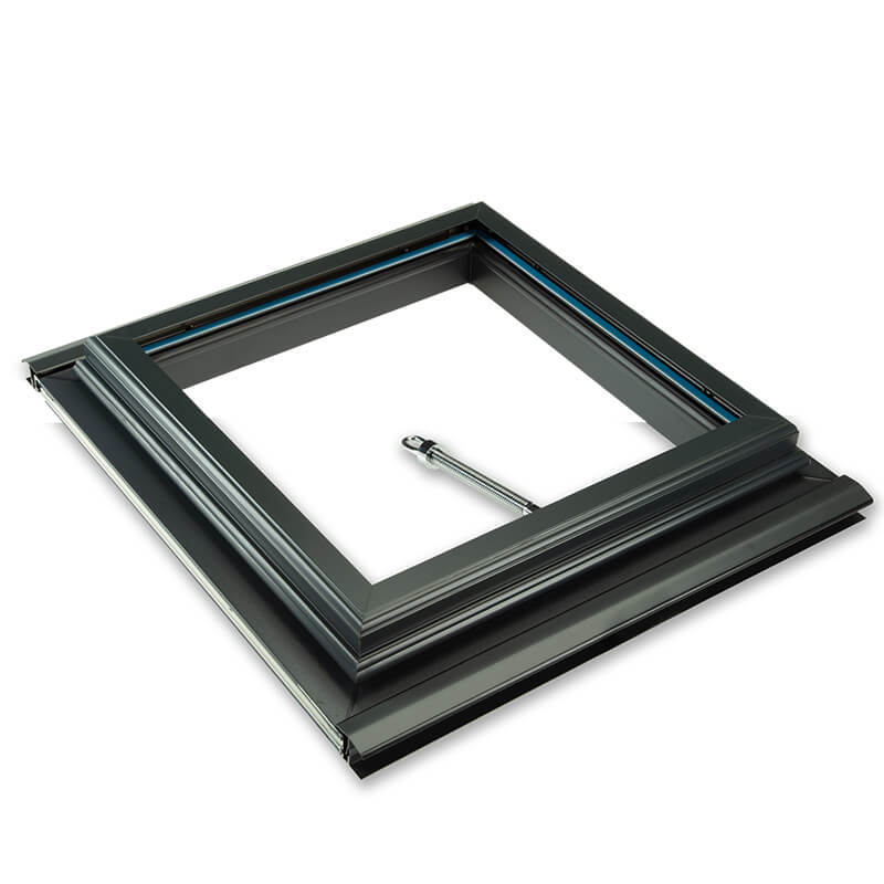 1000mm x 1000mm Glazed 25mm Clear Multiwall Anthracite Grey Roof Vent  image