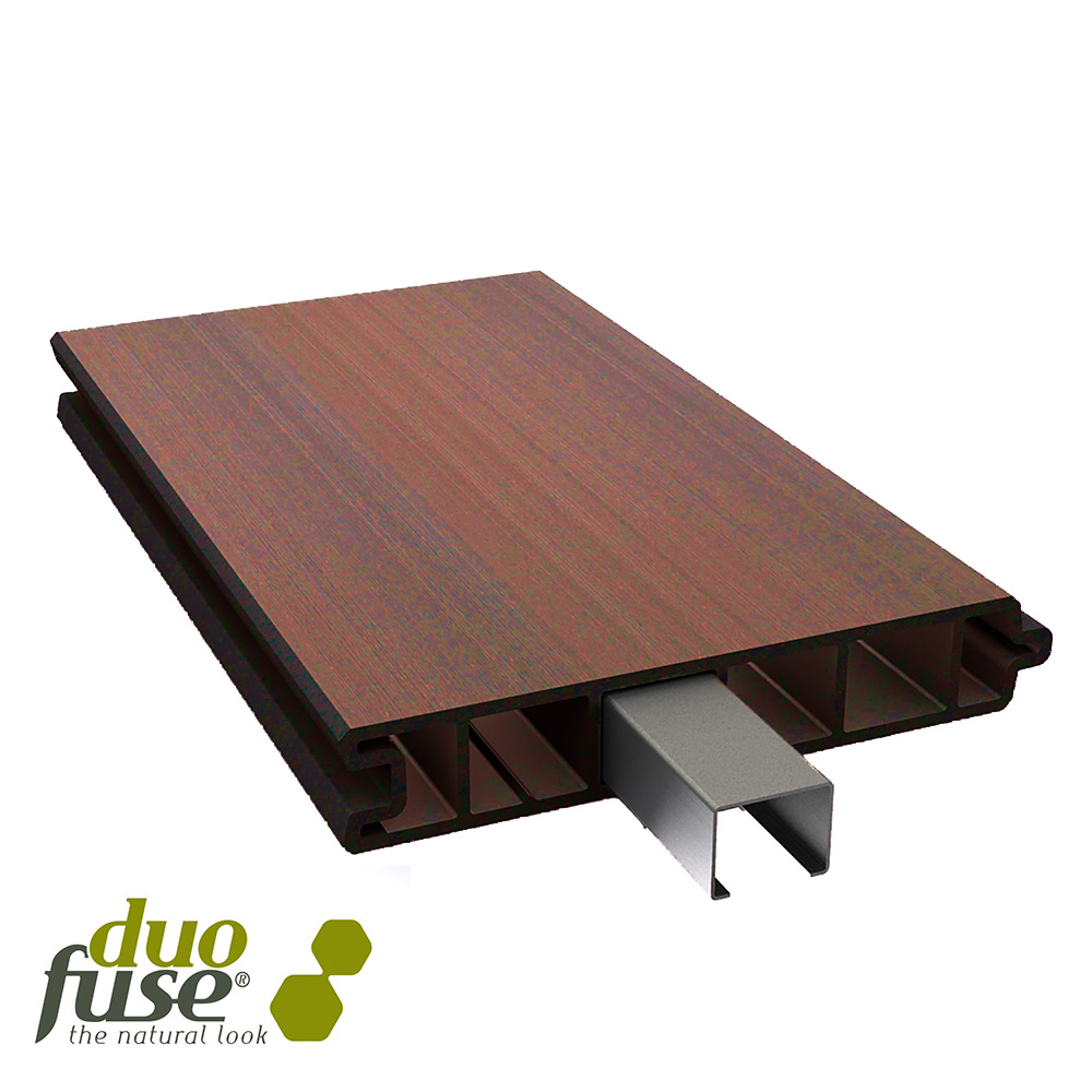 150mm Duofuse T&G Fencing Tropical Brown 2mtr image