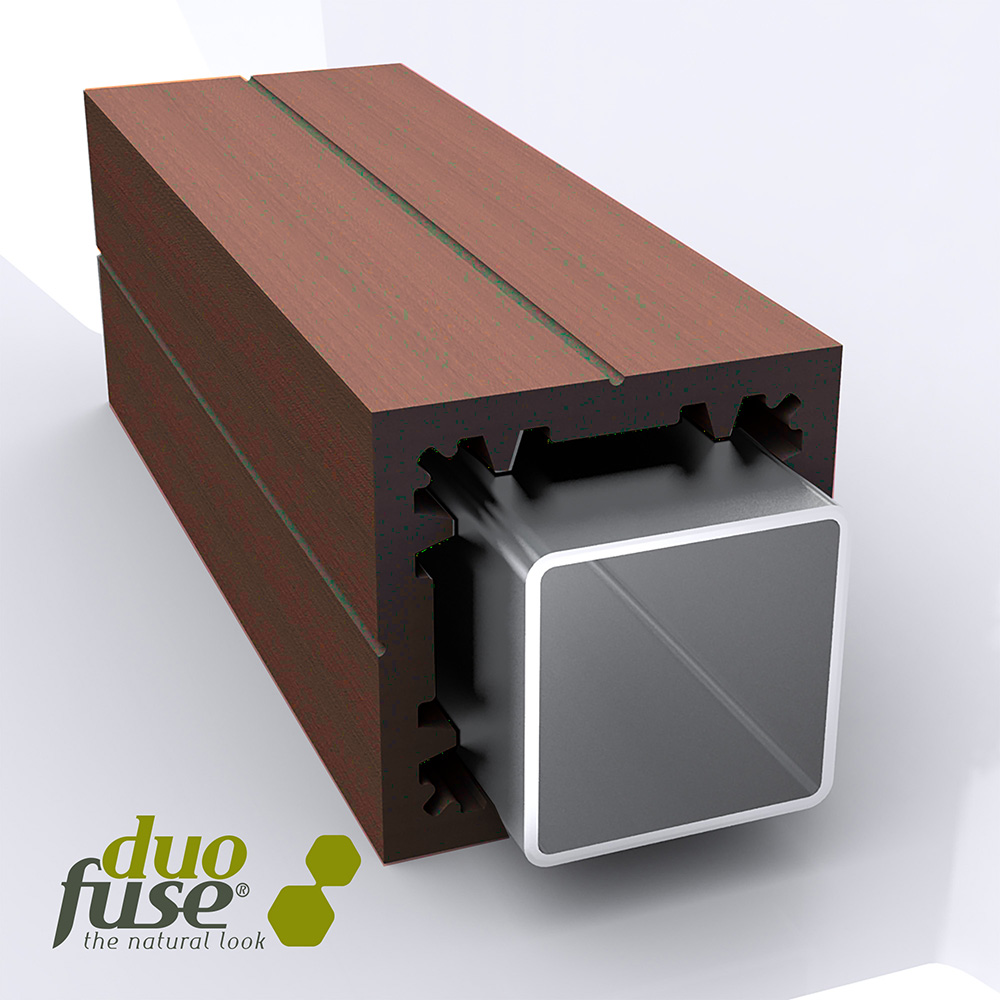 Duofuse T&G Reinforced Gate Post Tropical Brown 3m image
