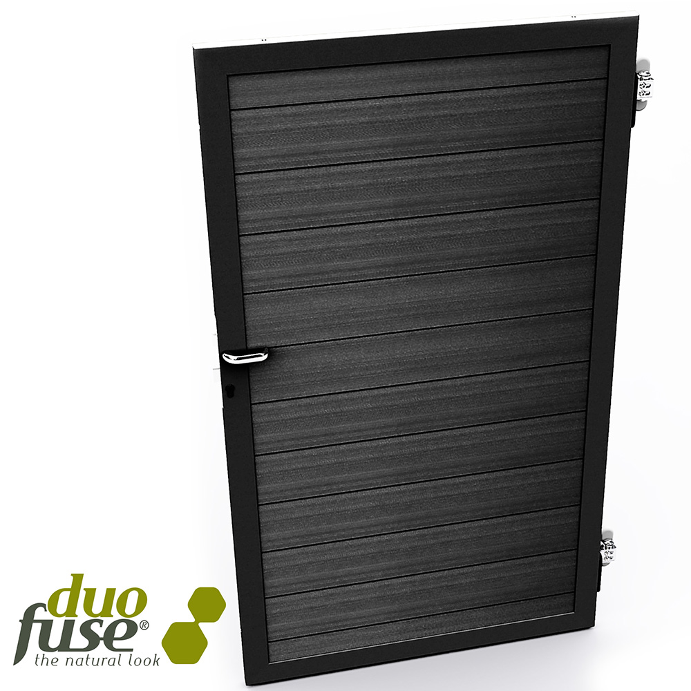 Duofuse T&G Gate Kit Graphite Black 1m x 1.8m image