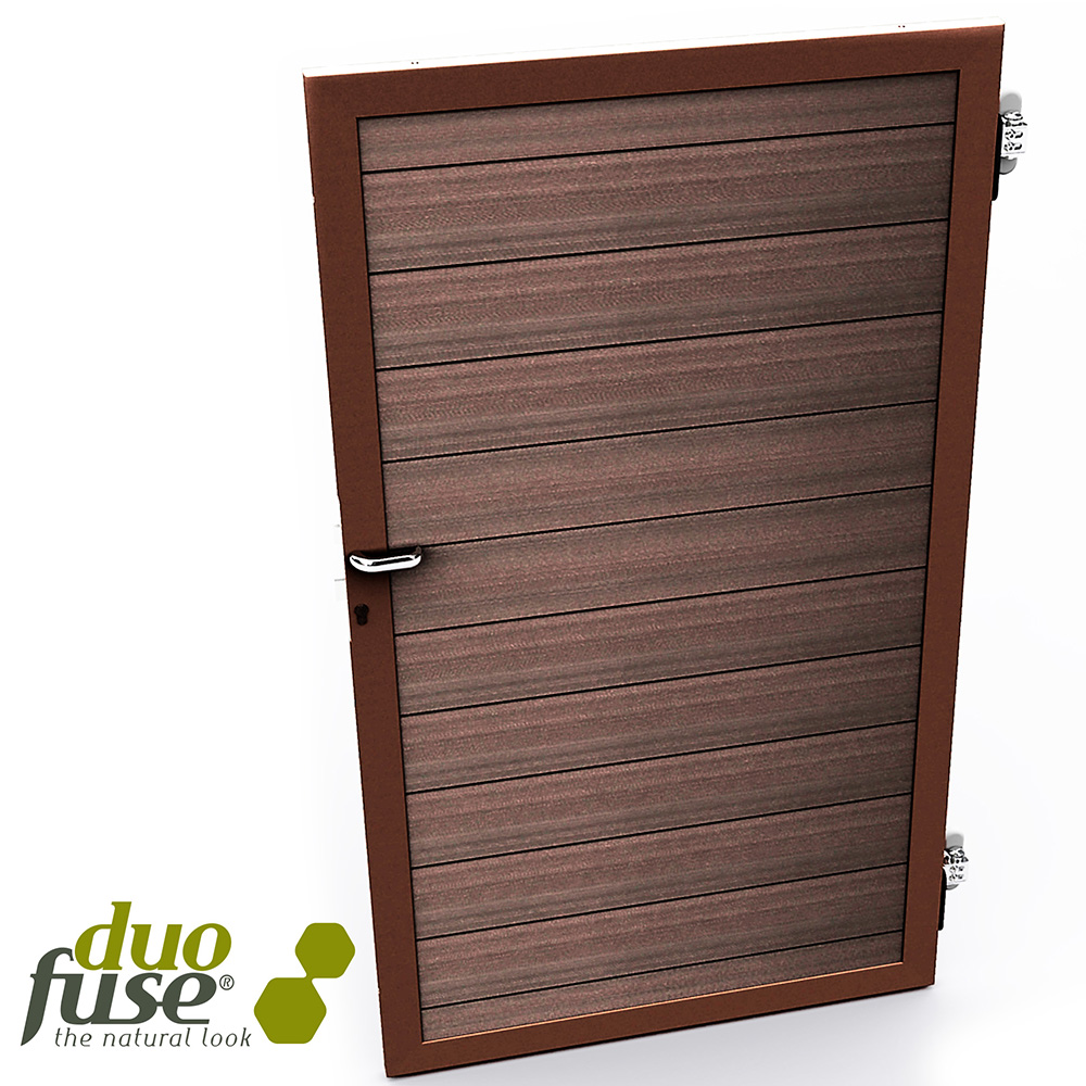 Duofuse T&G Gate Kit Tropical Brown 1m x 1.8m image