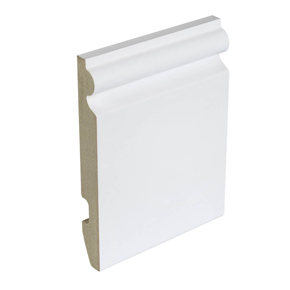 94mm White Ogee Skirting Board image