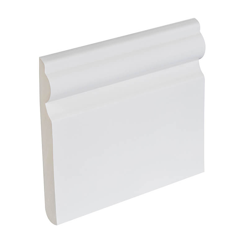 95mm White PVC Ogee Skirting Board image
